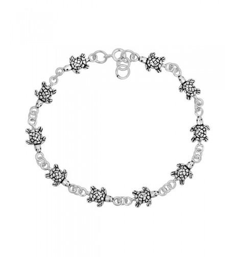 Turtles Inspired Sterling Silver Bracelet