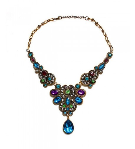 Doinshop Pendant Statement Crystal Necklace