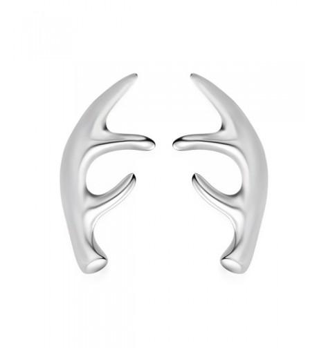 JEWME Sterling Antlers Reindeer Earrings