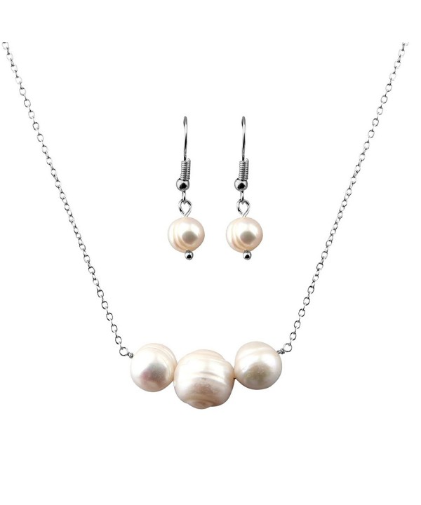 Pearl Necklace And Earring Set For
