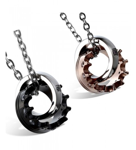 Flongo Stainelss Valentine Pendant Necklace