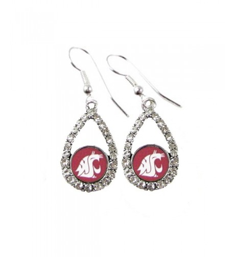 Washington Cougars Crimson Teardrop Earrings