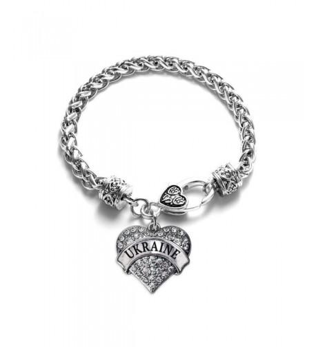 Ukraine Bracelet Silver Lobster Crystal