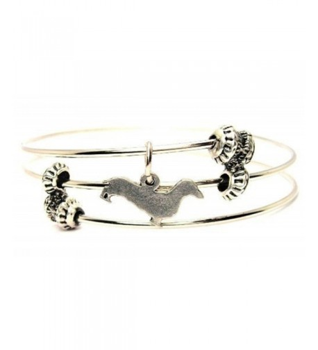 Dachshund Silhouette Expandable Adjustable Bracelet