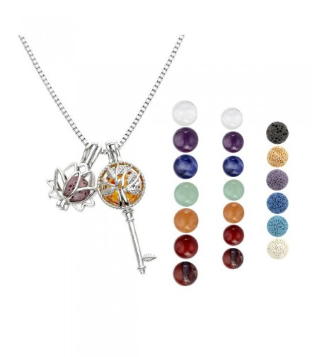 Aromatherapy Essential Diffuser Necklace Gemstones