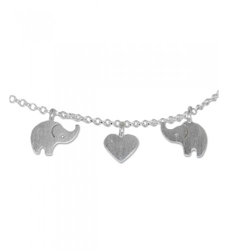 NOVICA Sterling Silver Elephant Romance