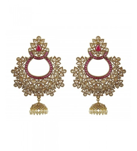 MUCHMORE Fashion Crystal Earrings Bollywood
