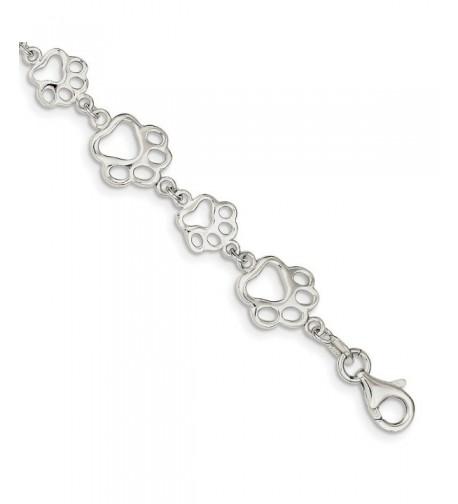 Sterling Silver 7 5in Polished Bracelet