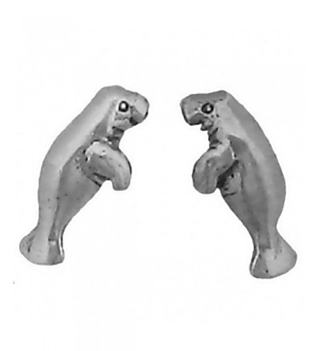 Corinna Maria Sterling Manatee Earrings Stainless