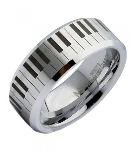 Tungsten Carbide Wedding Keyboard Polished