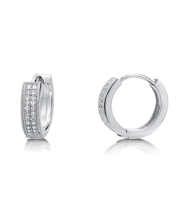 BERRICLE Rhodium Sterling Zirconia Earrings