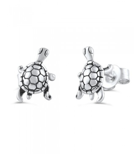 Sterling Silver Small Turtle Earrings