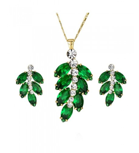 Yoursfs Jewelry Crystal Necklace Earrings