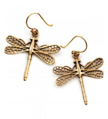 Filigree Dragonfly Earrings Thailand Jewelry