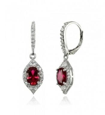 LOVVE Sterling Silver Created Earrings