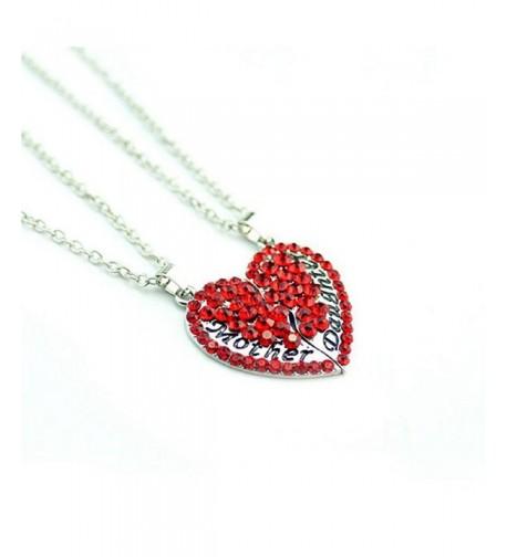 SODIAL Daughter Diamond Pendant Necklace
