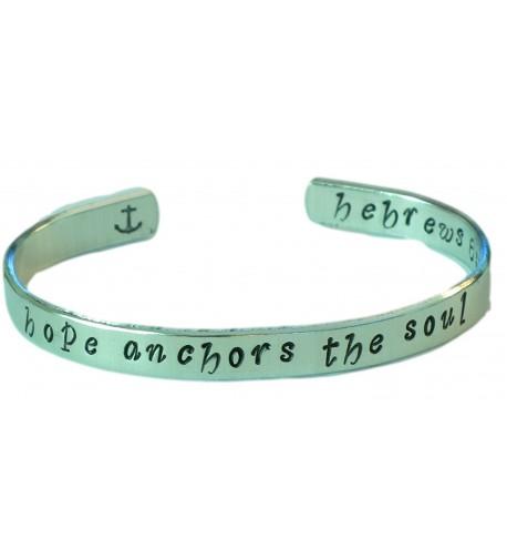 Hand stamped Bracelet anchors bracelet