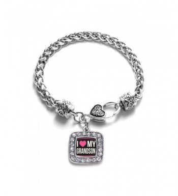 Grandson Classic Silver Crystal Bracelet