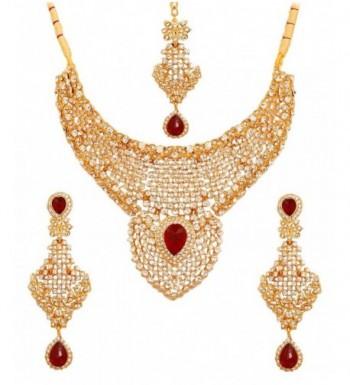 Touchstone bollywood diamante mesmerizing necklace