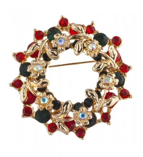 Lux Accessories Goldtone Crystal Christmas