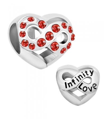 LovelyJewelry Infinity Birthstone Crystal Bracelet