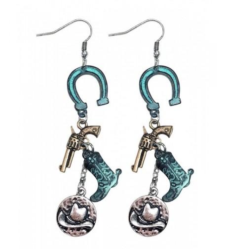 Western cowgirl horseshoe cowboy earrings