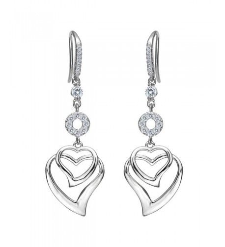 EVER FAITH Womens Sterling Earrings
