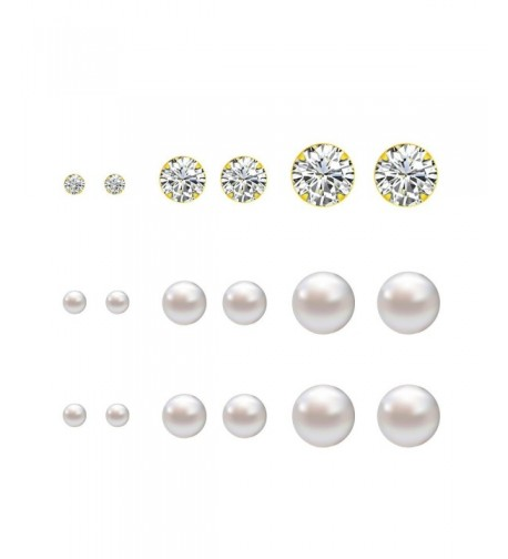 Lureme Pairs Sorted Crystal Earrings