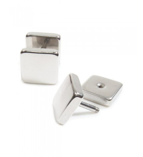 Stainless Steel Plain Square Earrings