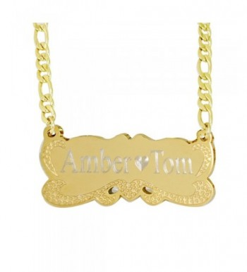 Plate Personalized Name Necklace Custom