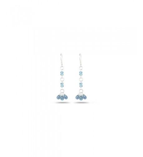 3 00 4 00 Aquamarine Earrings Sterling Silver