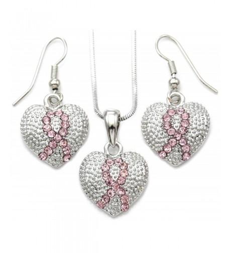 Awareness Pendant Necklace Earrings Jewelry