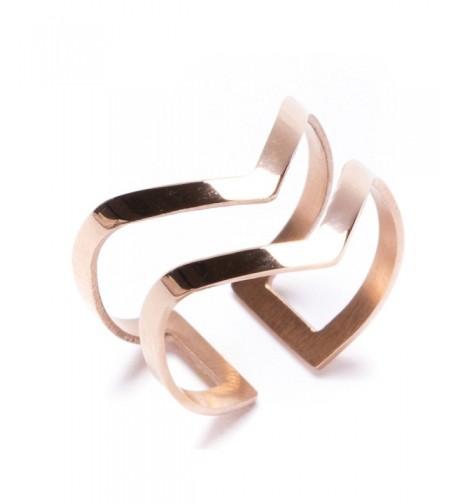 Double Chevron Band Titanium Jewelry