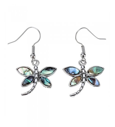 Szxc Jewelry Dragonfly Abalone Earrings