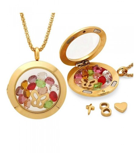 Stunning Crystals Pendant Necklace Interchangeable