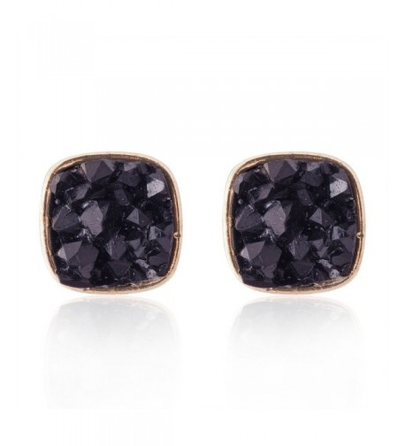 Jane Stone Colorful Earrings E0630 Black