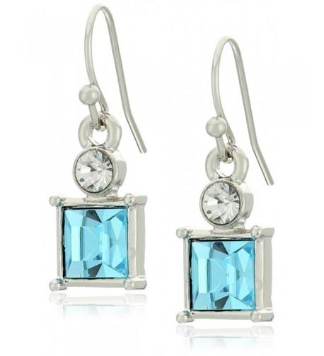 1928 Jewelry Silver Tone Crystal Earrings