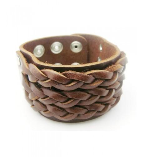 APECTO Jewelry Leather Wristband Bracelet