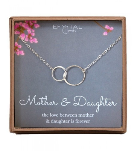 Mother Daughter Necklace Sterling interlocking
