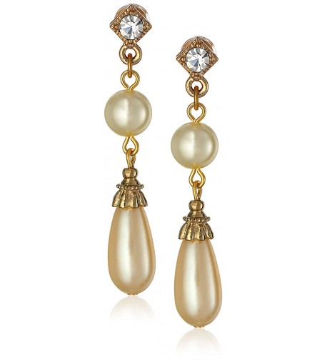 1928 Jewelry Essentials Gold Tone Earrings