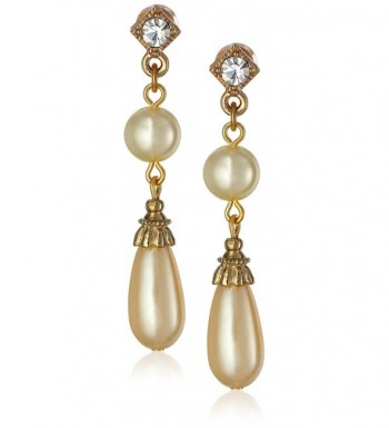 1928 Jewelry Essentials Gold Tone Earrings