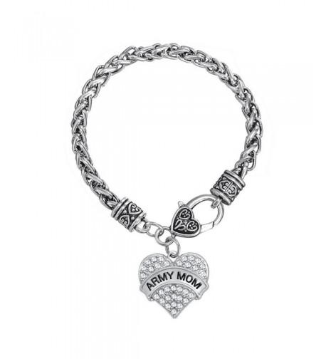 Clear Crystal Heart Bracelet Jewelry