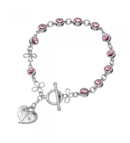 Pink Swarovski Bead Rosary Bracelet
