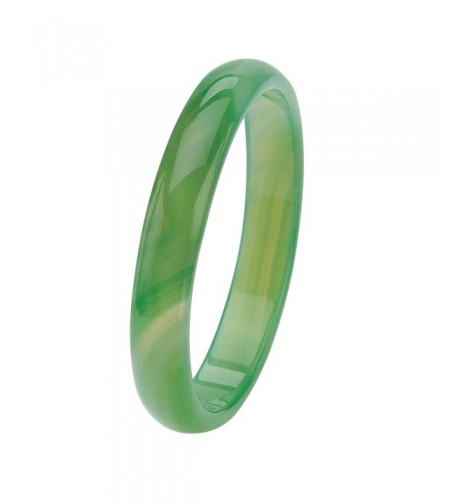 Genuine Green Agate Bangle Bracelet