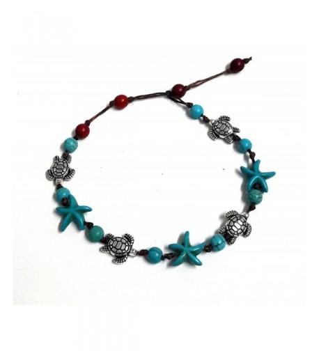 Bracelet Starfish Turquoise Beautiful cm Handmade