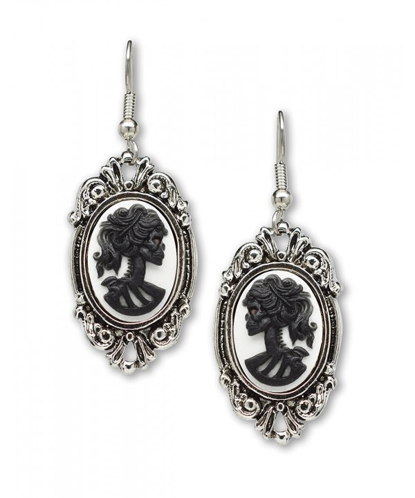 Gothic Lolita Dangle Earrings Silver