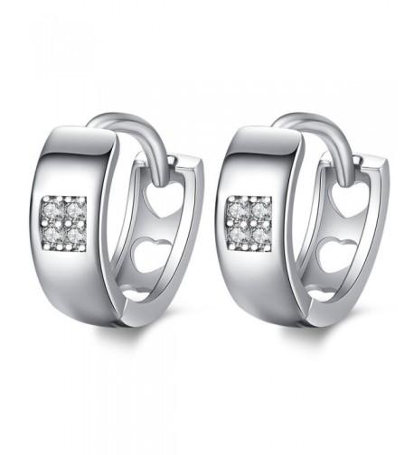 Sterling Silver Zirconia Huggie Earrings