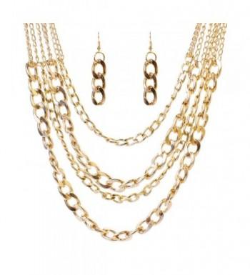 SDLM Fashion Multi strand Costume Necklace
