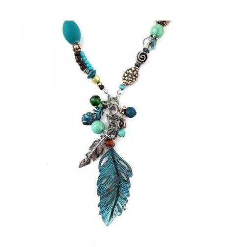 Western Peak Feather Necklace Earrings