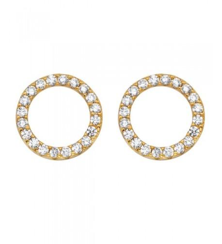 Yellow Plated Sterling Zirconia Earrings